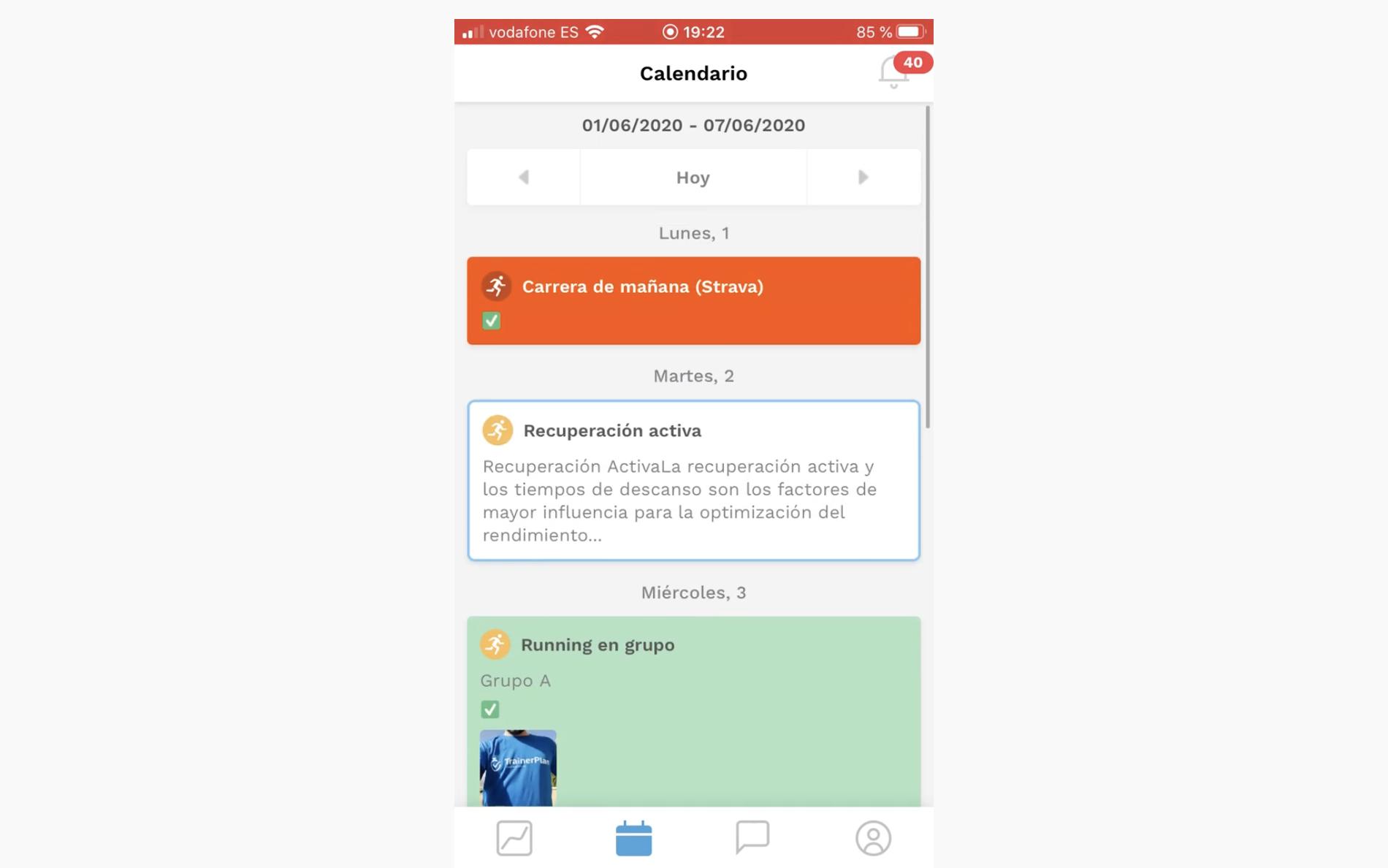 TrainerPlan app móvil iOS y android
